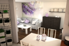 075. salon prowansalski lawendowy fioletowy bialy jasny livingroom provencal lavender purple violet white