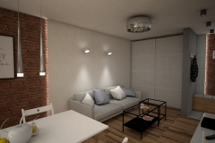 080. salon meble ikea drewno sary cegla bialy livingroom ikeas furniture wood grey brick white