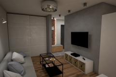 081. salon meble ikea drewno sary cegla bialy livingroom ikeas furniture wood grey brick white