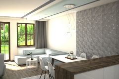 099. salon drewno bialy szary tapeta livingroom wood white grey wallpaper
