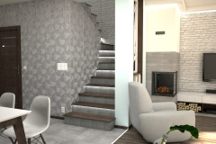 101. salon drewno bialy szary tapeta livingroom wood white grey wallpaper