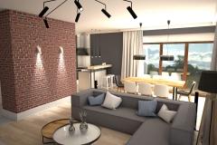 102. salon loft cegla jadalnia drewno livingroom industrial wood brick