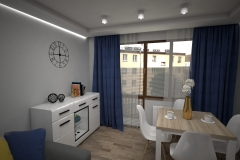 121. salon beton dab sonoma szary granatowy drewno livingroom concrete grey wood oak