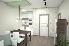128.-salon-drewno-kawowe-truflowe-drzwi-porta-zloto-bialy-stol-zielony-biale-krzesla-tapicerowane