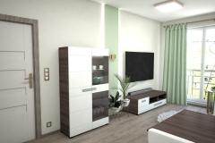129.-salon-drewno-kawowe-truflowe-drzwi-porta-zloto-bialy-stol-zielony-biale-krzesla-tapicerowane