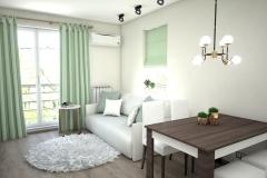 130.-salon-drewno-kawowe-truflowe-drzwi-porta-zloto-bialy-stol-zielony-biale-krzesla-tapicerowane