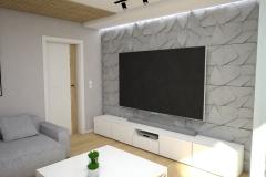 132.-salon-szary-drewno-lamele-turkusowy-bialy-stolik-kawowy-beton