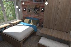 0014.-Sypialnia-loft-z-wspinakiem-dla-kotów-Bedroom-loft-with-scratching-posts-for-cats