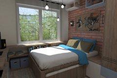 0015.-Sypialnia-loft-z-wspinakiem-dla-kotów-Bedroom-loft-with-scratching-posts-for-cats