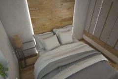 0020. sypialnia biala drewno bez bedroom white wood beige