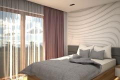 0023. sypialnia jasna biala szary brudny roz drewno tapeta 3d bedroom light white grey pouder pink wood wallpaper 3d