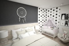 058.-sypialnia-z-lozeczkiem-dzieciecym-biala-szara-drewno-antracyt-gwiazdki-rozowy