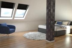063.-sypialnia-drewno-tapeta-zloty-granatowy-bialy-polysk-czarny-polysk-sufit-napinany
