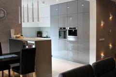 0007. kuchnia biala szara wysoki polysk kitchen white grey high gloss