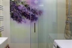 0031. realizacja lazienka prowansalska bialo fioletowa z drewnem lawenda realisation bathroom lavender white wood purple violet