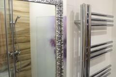 0032. realizacja lazienka prowansalska bialo fioletowa z drewnem lawenda realisation bathroom lavender white wood purple violet