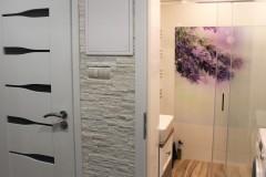0033. realizacja lazienka prowansalska bialo fioletowa z drewnem lawenda realisation bathroom lavender white wood purple violet