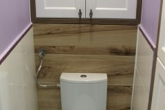 0034. realizacja lazienka prowansalska bialo fioletowa z drewnem lawenda realisation bathroom lavender white wood purple violet