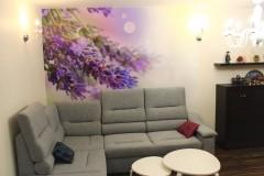 0036.  realizacja salon prowansalski lawendowy fioletowy jadalnia bialy drewno realisation livingroom lavender purple violet white wood