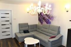 0037.  realizacja salon prowansalski lawendowy fioletowy jadalnia bialy drewno realisation livingroom lavender purple violet white wood