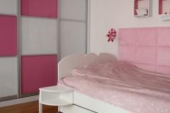 038. Pokoj dzieciecy dla ksiezniczki panele dappi rozowy bialy children room for princess pink white